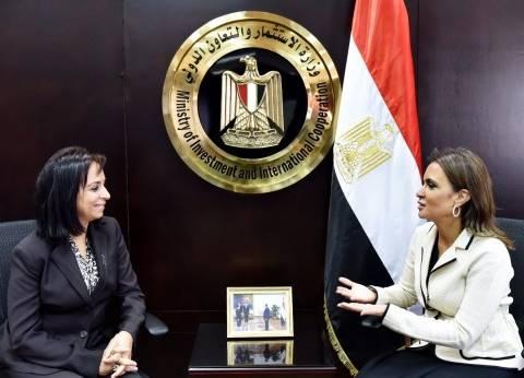"""وزيرة الاستثمار تلتقي رئيسة """"القومي للمرأة"""" لبحث تعزيز التعاون"""