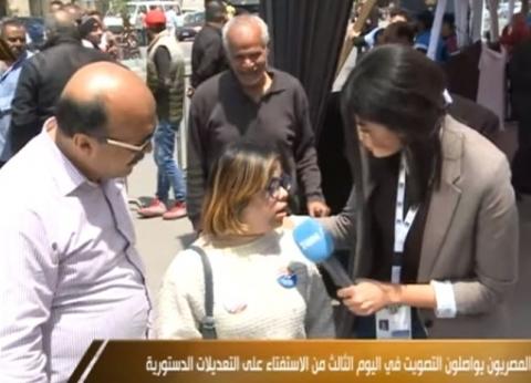بالفيديو| فتاة من ذوي الاحتياجات الخاصة تشارك الاستفتاء