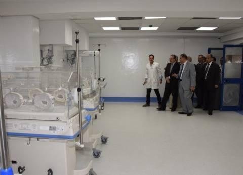 """محافظ بني سويف يتفقد أعمال تطوير مستشفى """"دلهانس للأم والطفل"""""""