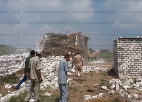 بالصور| حملة لإزالة التعديات على أملاك الدولة في سيدي سالم
