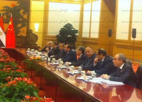 بالفيديو|السيسي لرجال الأعمال الصينيين:نتحرك بقوة في مصر..ونريدكم معنا