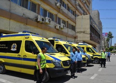 """""""الصحة"""": وفاة 4 مواطنين وإصابة 11 في حادث تصادم بالبحيرة"""
