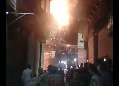 السيطرة على حريق الموسكي والحماية المدنية تجري عمليات التبريد