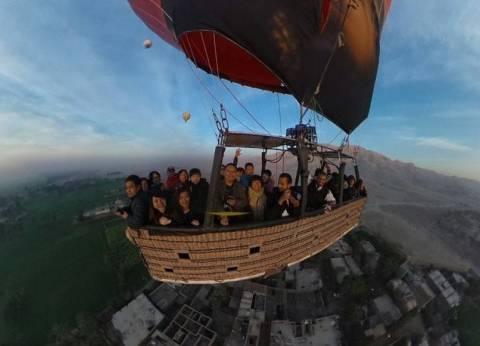 """عودة """"البالون الطائر"""".. 11 رحلة تحلق بسماء الأقصر بعد الهبوط الاضطراري"""