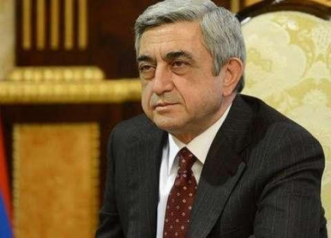 """رئيس أرمينا يرسل برقية عزاء لـ""""السيسي"""" في شهداء الكنيستين"""