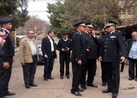 بالصور| حكمدار الجيزة يتفقد لجان الهرم