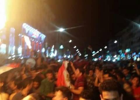 بالصور| احتفالات بأشهر ميادين دمياط لتأهل المنتخب للمونديال