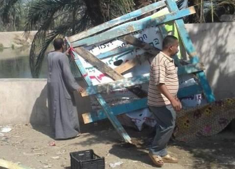 حملة لإزالة الإشغالات بقرية العيساوية في سوهاج