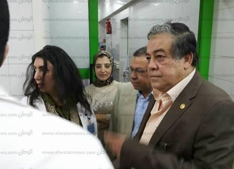 """بالصور  وكيل وزارة الصحة بالغربية يتفقد مستشفى """"المنشاوي"""" العام"""