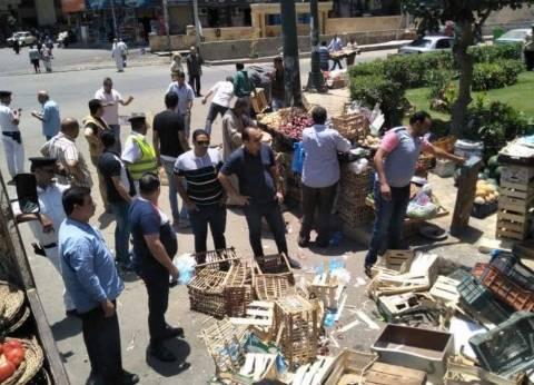 بالصور  حملة مكبرة لإزالة التعديات بحي المنتزه في الإسكندرية