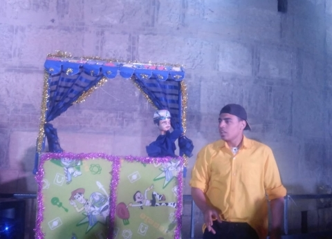 عروض الأراجوز في مهرجان الطبول لأول مرة: كبار وصغار بيحبونا