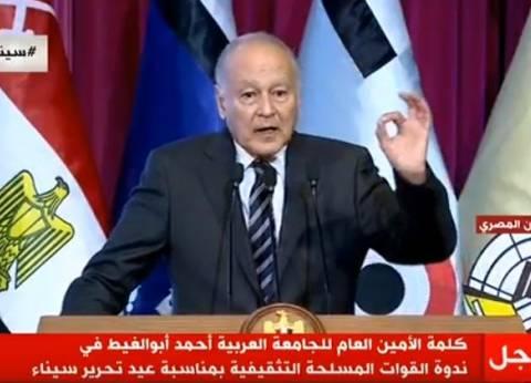 أبو الغيط: هناك ضيق عربي إزاء الأسلوب الإيراني في المنطقة
