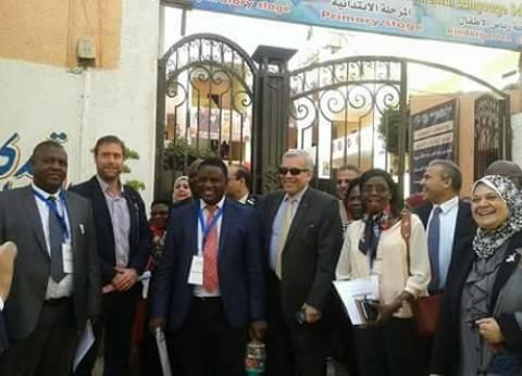 """وكيل """"تعليم القليوبية"""" يستقبل وفد المجلس البريطاني الأوغندي بالقناطر"""