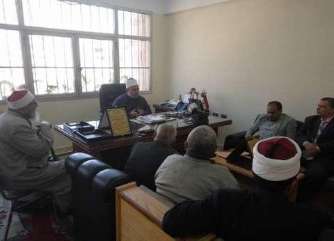 وافي يجتمع برؤساء التفتيش بمنطقة القاهرة لمتابعة سير العملية التعليمية