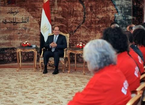بالصور| السيسي: علينا جميعا أن ندعم المنتخب الوطني المصري
