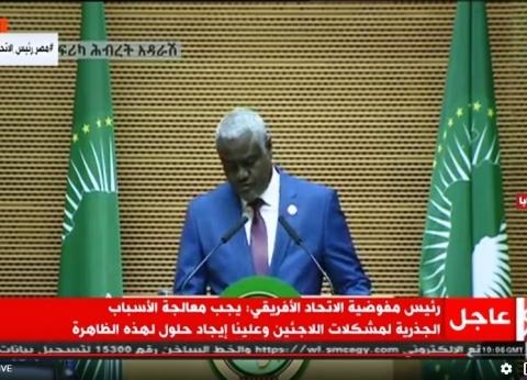 موسى فكي: ندعو لتضافر الجهود الدولية والوطنية لإنهاء الأزمة الليبية