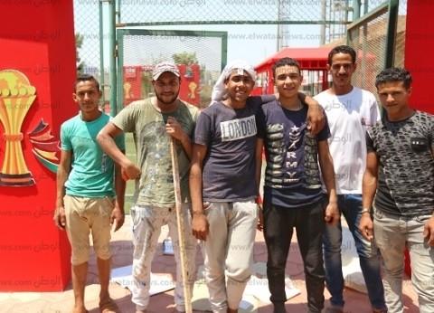 «عمال يومية» شاركوا فى تطوير استاد القاهرة: كأس الأمم باب رزق