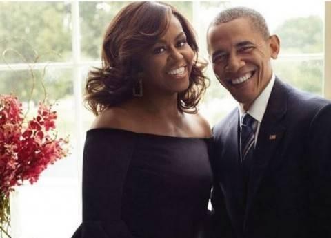"""الزوجان أوباما يشاركان """"كلينتون"""" وزوجها آخر حملة عشية الإنتخابات"""
