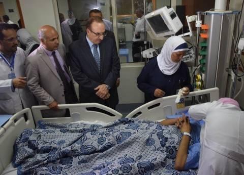 """""""صحة بني سويف"""": خروج 19 حالة من مصابي حادث الطريق الصحراوي من المستشفى"""