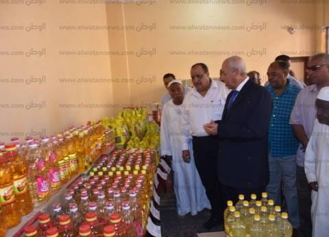 """محافظ أسوان يفتتح معرض """"أهلا رمضان"""" في عنيبة بنصر النوبة"""
