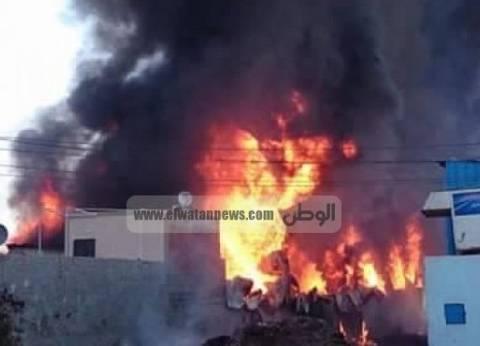 مصرع 5 مصريين وإصابة 8 آخرين في حريق بجمرك عمان بالأردن