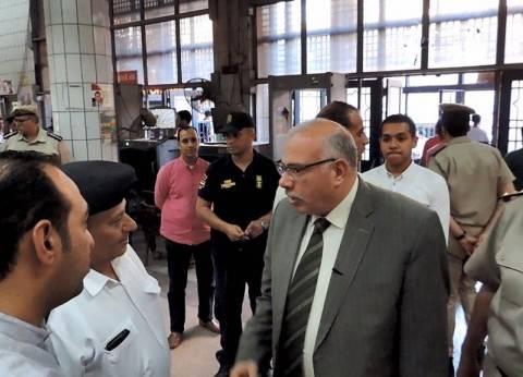"""مدير أمن القليوبية يتفقد """"مترو الزراعة"""".. ويؤكد: الإفطار بالتناوب"""