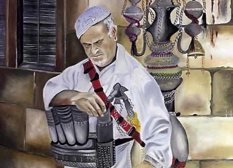 لوحات تحكى صمود شعب وعراقة دولة: هنا فلسطين