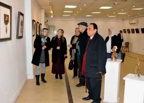 افتتاح معرض الفنانة إنجي درويش بكلية التربية الفنية بحلوان