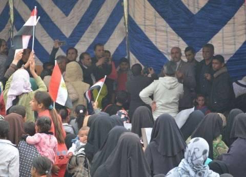 """من الشوارع للبيوت.. سيناء تستعد للانتخابات بالأعلام ولافتات """"تحيا مصر"""""""