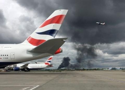 بالفيديو والصور| اللقطات الأولى لانفجار بالقرب من مطار هيثرو في لندن