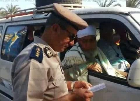 """مدير """"مرور أسيوط"""" يترأس حملة لضبط المخالفين على الطرق الرئيسية"""