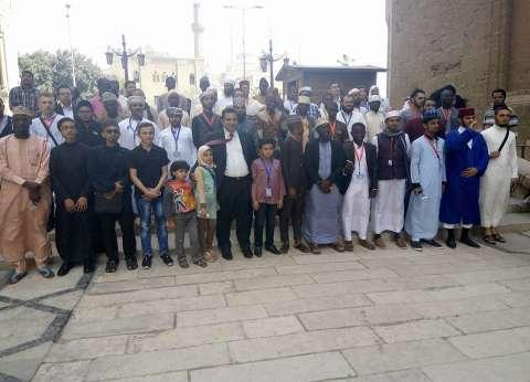 وفد المسابقة العالمية للقرآن يزور مسجدي السلطان حسن والرفاعي