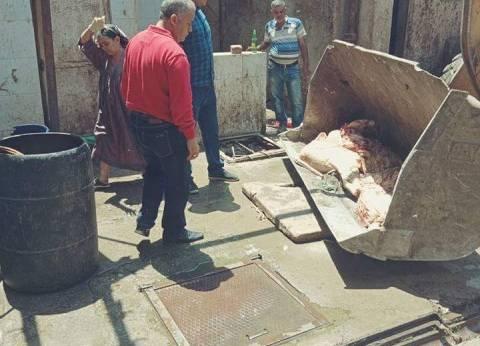 إعدام 260 كيلو لحوم فاسدة في قليوب