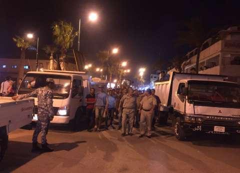 بالصور| حملات أمنية لرفع الإشغالات في دمياط