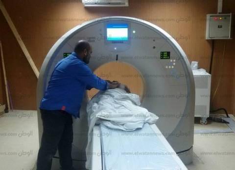 تشغيل جهاز الأشعة المقطعية بمستشفى بلقاس في الدقهلية