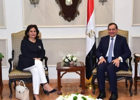 وزيرة الطاقة الأردنية تبحث مع الملا الاستفادة من مصر في مشروعات الغاز