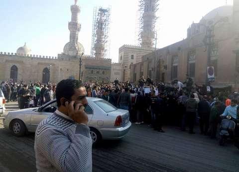 """وقفة أمام الجامع الأزهر: """"بالروح بالدم نفديك يا أقصى"""""""