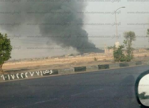 عاجل| حريق هائل بمحيط سوق الجملة في 6 أكتوبر
