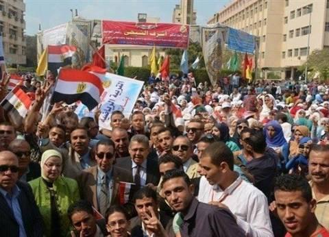 """""""الشيحي"""" يفتتح العام الدراسي الجديد بجامعة عين شمس برفع العلم المصري"""