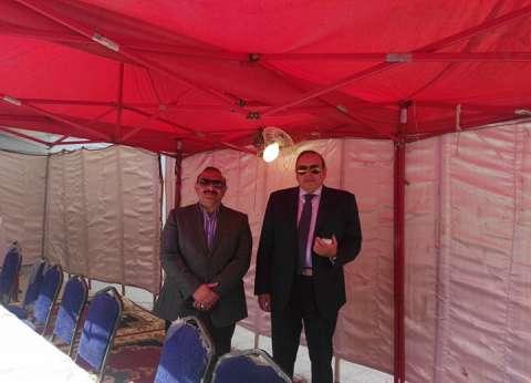 رئيس اللجنة العامة للانتخابات بمصر الجديدة يتفقد لجان الاستفتاء