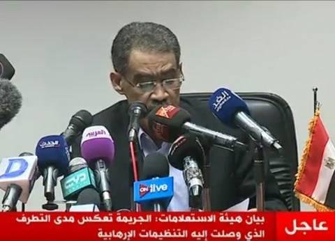 في مؤتمر صحفي.. ضياء رشوان يحدد 8 دلالات لحادث مسجد الروضة الإرهابي
