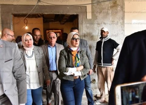 """وزيرة الصحة تتوجه إلى معهد ناصر لتفقد مصابي """"حريق محطة مصر"""""""