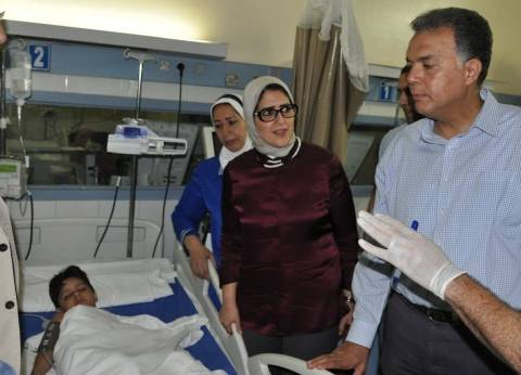 """وزيرة الصحة: خروج 42 مصابا في حادث """"قطار البدرشين"""" بعد تحسن حالتهم"""