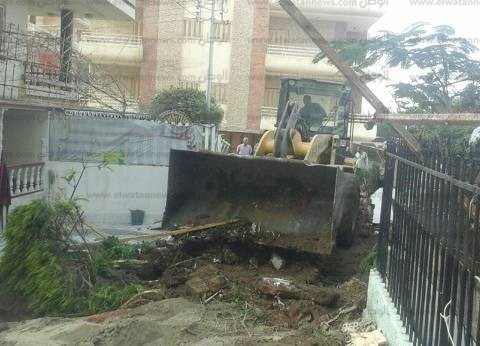 إزالة تعديات أصحاب الفيلات على أملاك الدولة وإعادة فتح شوارع جمصة
