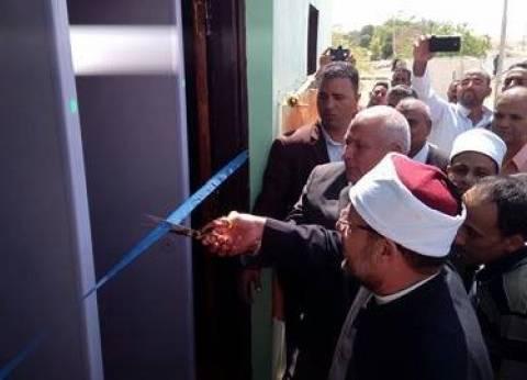 بالصور| وزير الأوقاف يفتتح مسجد الشهداء بالوادي الجديد