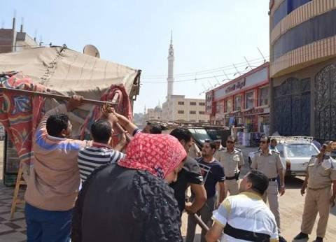 إزالة 48 حالة إشغال طريق في حملة مرافق بالإسكندرية