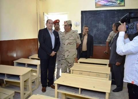 بالصور| محافظ سوهاج يفتتح مدرسة الديابات بعد تطويرها على يد الجيش