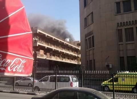 """""""الصحة"""": إصابة 3 في حريق مستشفى الحسين الجامعي"""
