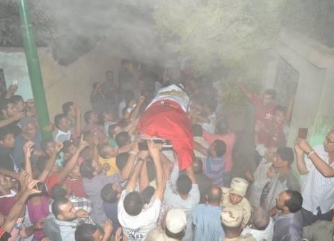 بالصور| تشييع جثمان شهيد الأمن الوطني في جنازة عسكرية بالغربية