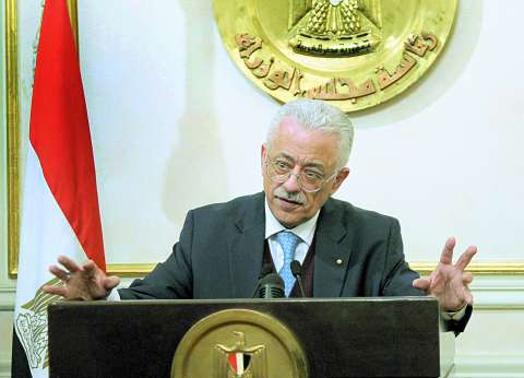 وزير التعليم يهنئ السيسى على فوزه بفترة رئاسية ثانية